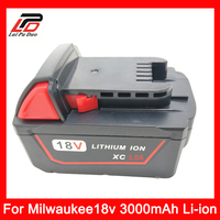 New 18V 3 0Ah Li Ion Replacement Power Tool Battery For Milwaukee M18 48 11 1828