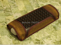 2014 Hot Seller Natural Jade Pillow Magnetic Therapy Jade Stone Pillow Summer Cooling Neck Health Care