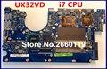 Placa madre del ordenador portátil para asus ux32vd con sistema i7 cpu placa base totalmente probado y calidad perfecta