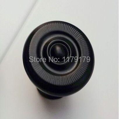 25mm modern simple black Kitchen cabinet knob handle Black drawer dresser cupboard bedside table furniture door knob pull handle