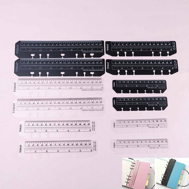 A5/A6/A7 6 Holes Ruler For Binder Planner Notebooks Office School Index Ruler Bookmark Notebooks Accessories