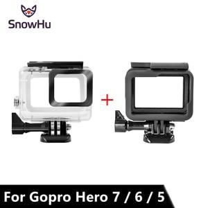 Image 1 - SnowHu ل Gopro بطل 7 6 5 اكسسوارات مقاوم للماء حماية الإسكان حالة الغوص 45 متر واقية ل Gopro بطل كاميرا LD08