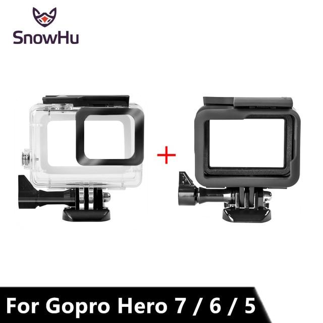 SnowHu ل Gopro بطل 7 6 5 اكسسوارات مقاوم للماء حماية الإسكان حالة الغوص 45 متر واقية ل Gopro بطل كاميرا LD08