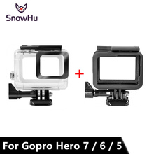 SnowHu for Gopro Hero 7 6 5 Accessories Waterproof Protection Housing Case Diving 45M Protective For Gopro Hero 6 5 Camera LD08 lanbeika for gopro hero 6 5 touchbackdoor diving waterproof housing case 45m for gopro hero 6 5 go pro5 gopro6 gopro hero6