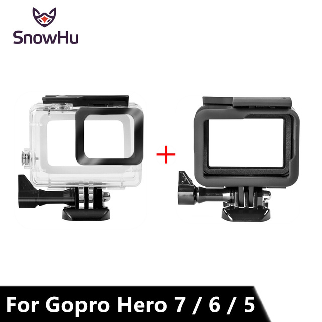 SnowHu for Gopro Hero 7 6 5 Accessories Waterproof Protection Housing Case Diving 45M Protective For Gopro Hero Camera LD08