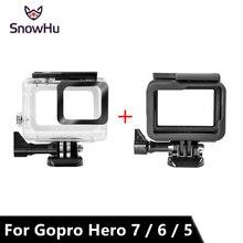 SnowHu para Gopro Hero 7 6 5 accesorios funda de protección impermeable buceo 45M protectora para cámara Gopro Hero LD08