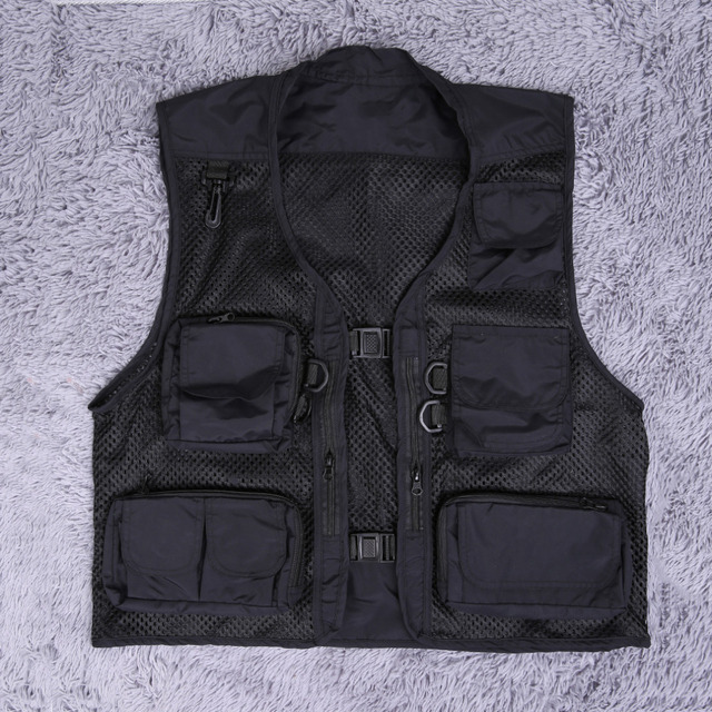 Mens Jacket Sleeveless veste  Spring And Summer Fishing And Photography Mesh Men's Vest Waistcoat Hot Sale