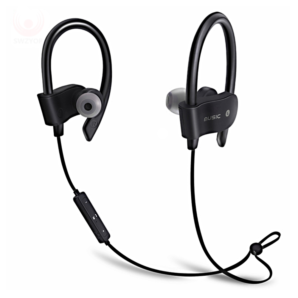 Sport In-Ear Bluetooth Earphone Stereo Earbuds Headset Bass Earphones Ear Hook Wireless Headphone With Mic For IPhone 7 6 Huawei koyot universal bluetooth 4 1 wireless stereo earphone earbuds sport headset cvc 6 0 headphone for iphone 7 6 plus