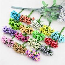 Barevné umělé květinky, 12 ks v balení