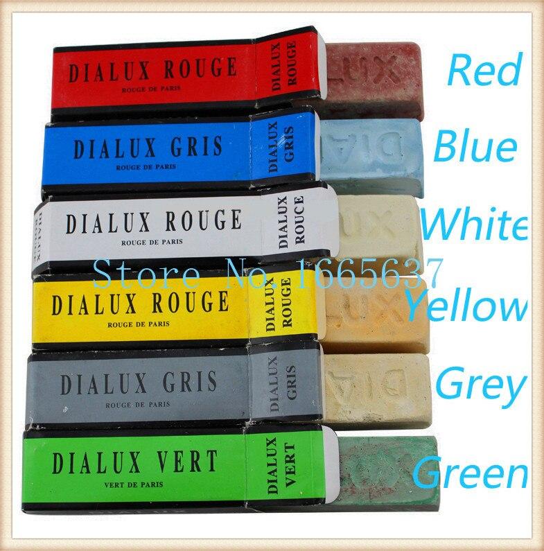 Livraison gratuite DIALUX ROUGE bijoutiers ROUGE composé de polissage blanc pour or et argent, barre Rouge composé de cire de polissage France