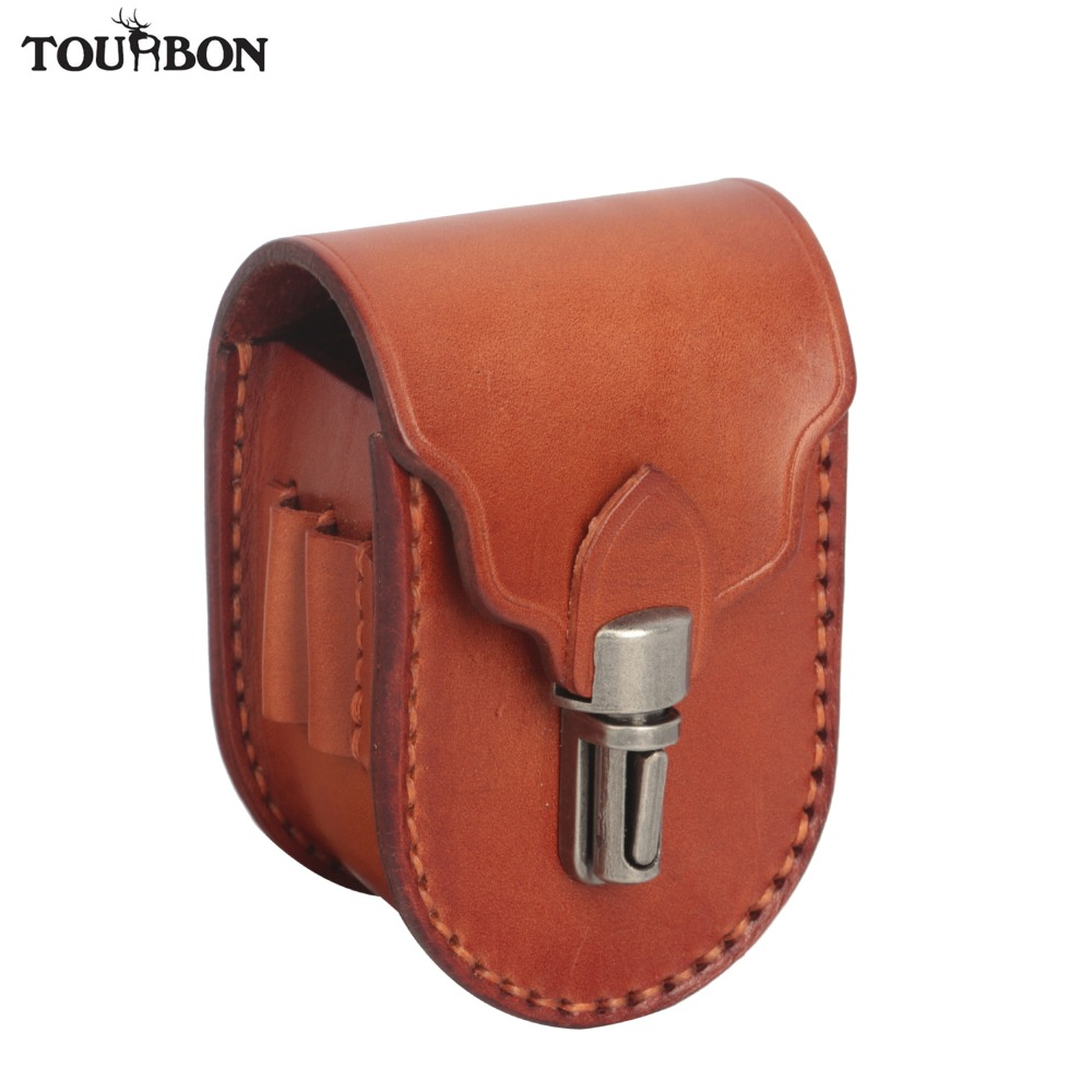 Tourbon Vintage Mini Portable Golf Balls Bag Tee Holder 2 Balls Divot Tool Marker Holder Genuine Leather Waist Belt Golf Pouch