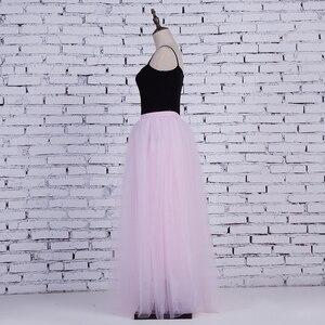 Image 5 - Falda larga de tul de 4 capas para mujer, tutú de estilo de hadas, princesa elegante, Vintage, acampanada, 100cm
