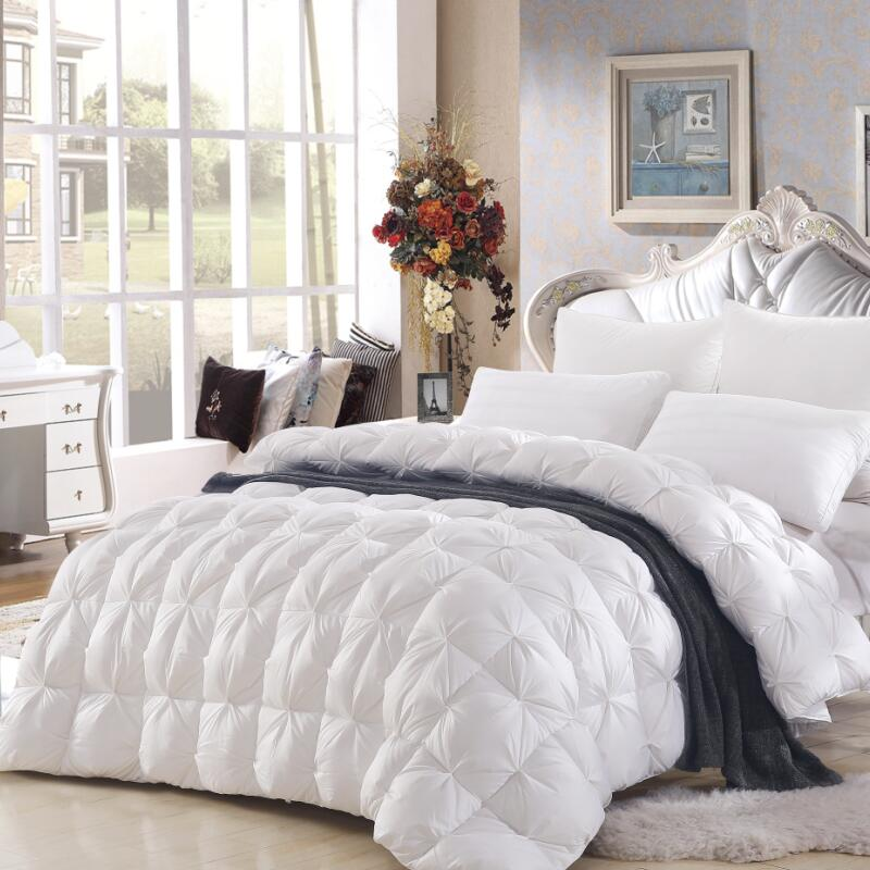 high qaulity twisting bedding winter 95 goose down comforter winter quilt warmly white comforter king - Down Comforter King