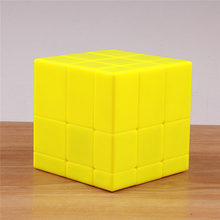 QIYI 3x3x3 magic mirror cube yellow stickerless puzzle speed cast coated cubo magico learning educational funy