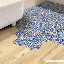 Funlife Blue And White Porcelain Anti-slip Floor Sticker,Chinese Style Home Decor,Self-adhesive Waterproof China Tile Stickers
