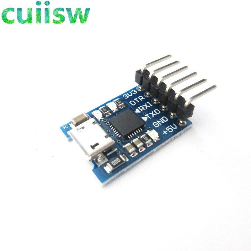 CP2102 MICRO USB для UART TTL модуль 6-контактный последовательный преобразователь UART STC Замена FT232 новый для arduino