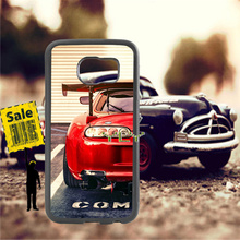 red car tuned supra soft TPU edge cell phone cases for samsung s6 plus s7 s8 s9 s10 lite e note8 note9 case