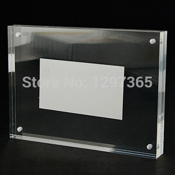 2015 NEW 2 pcs/lot Photo Frame 8 inch 203x152mm Acrylic Clear Crystal Frame Home Decoration Creative Organic Glass Picture Frame