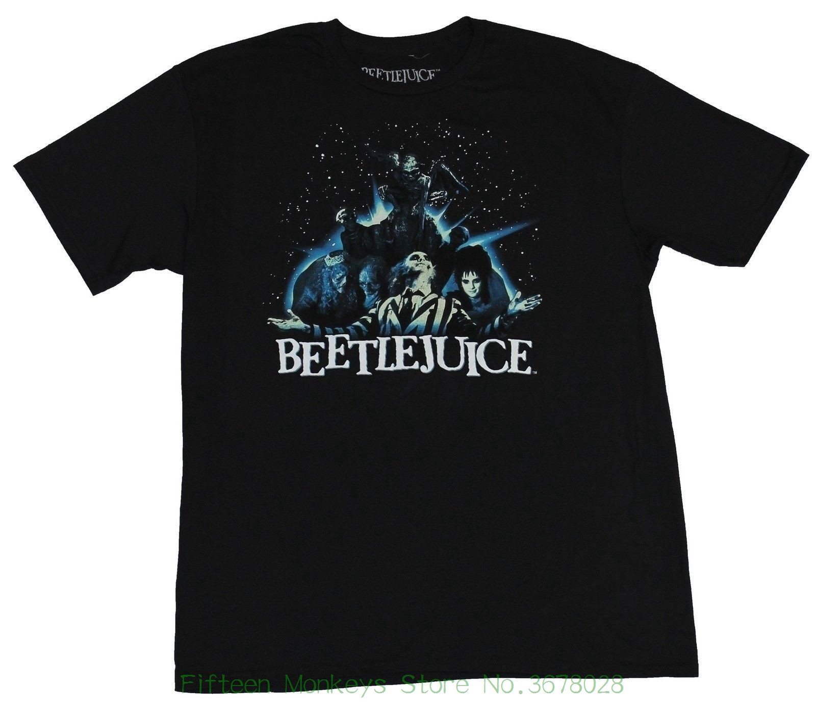 Top Quality T Shirts Men O Neck Beetlejuice Mens T-shirt - Open Arms Spacey Group Shot Image