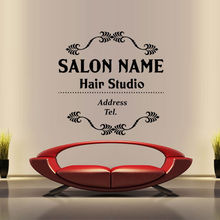 Hair Salon Vinyl Wall Decal Name Custom Sticker Beauty Hairstyle Signboard Sign Shop Glass Decoration