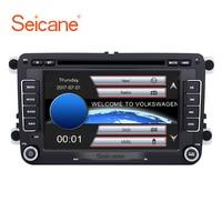 Seicane 7 Double Din Car DVD Unit Player GPS Navigation For Skoda Yeti Superb Rapid VW Passat Seat Altea/Leon Golf Support AUX
