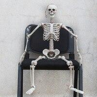 90cm Hanging Plastic ghost Skeleton Halloween Decorations Holiday Props Haunted house skull skeleton bones stick Free shipping