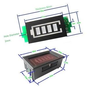 Image 4 - 1S singolo livello di potenza 3.7V batteria al litio capacità modulo indicatore Display blu