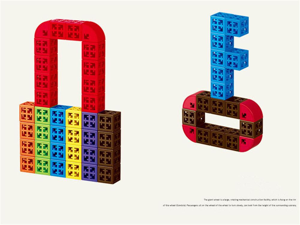 34/48/88/138/188pcs Blocks Cubes Unit Plastic Interlocking Construction Model Building Set of Early Educational Toys For Child 3