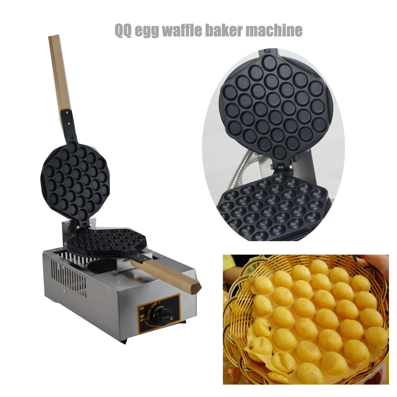 Popular gas Egg Waffle Machine Stainless Steel Hong Kong Egg Waffle Grill Commercial Waffle Maker free shipping digital type hong kong egg waffle maker bubble waffle machine
