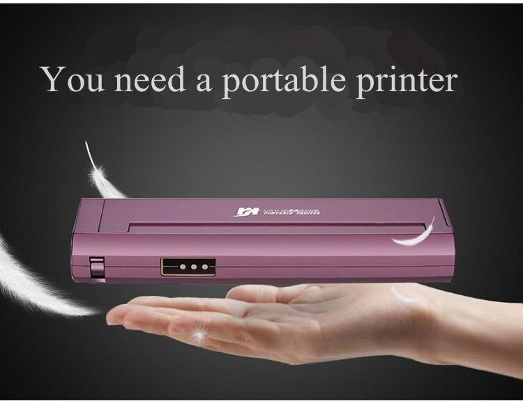 Nouvelle imprimante de tatouage Mini petit portable portable téléphone de tatouage ordinateur portable sans fil voiture thermique imprimante Bluetooth A4 imprimante thermique