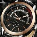 Mens relojes de lujo de la marca original liandu fecha reloj hombre reloj de pulsera de cuero reloj de cuarzo de los hombres del deporte militar relogio masculino
