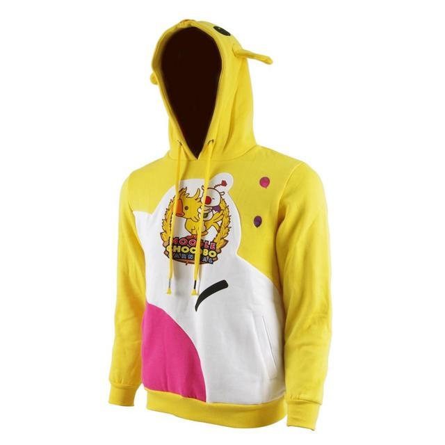 Finale fantaisie XV Moogle Chocobo manteau choco-mog pulls à capuche pour hommes Noctis Cosplay Costume jaune carnaval pull sweat et chapeaux