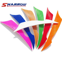 60 Pcs 7 colors Archery Arrow Feather 4 Inch Hunting Accessories and Shooting