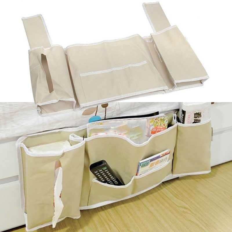 Главная Многофункциональный прикроватные кровать карман на кровать Организатор висит сумка держатель телефона сумка для хранения полезны…