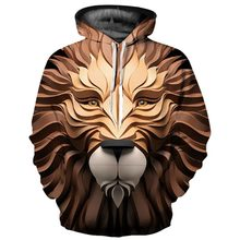 Carving Animal Lion Head 3D Print Jackets Men/Women Hiphop Streetwear Hoodies Boy Cool Hat Sweatshirts Casual Tracksuits Clothes