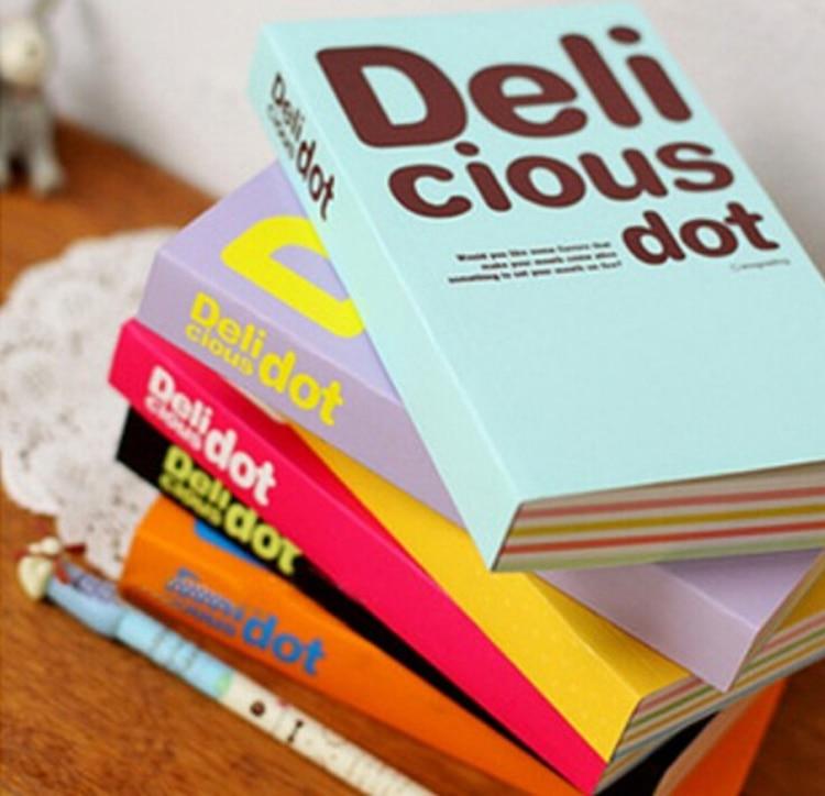 สร้างสรรค์โน๊ตบุ๊คหลายสีหนา S Ketchbook โน๊ตบุ๊ค 150 แผ่น Cious Dot Notepad ไดอารี่โรงเรียนสำนักงานเครื่องเขียน