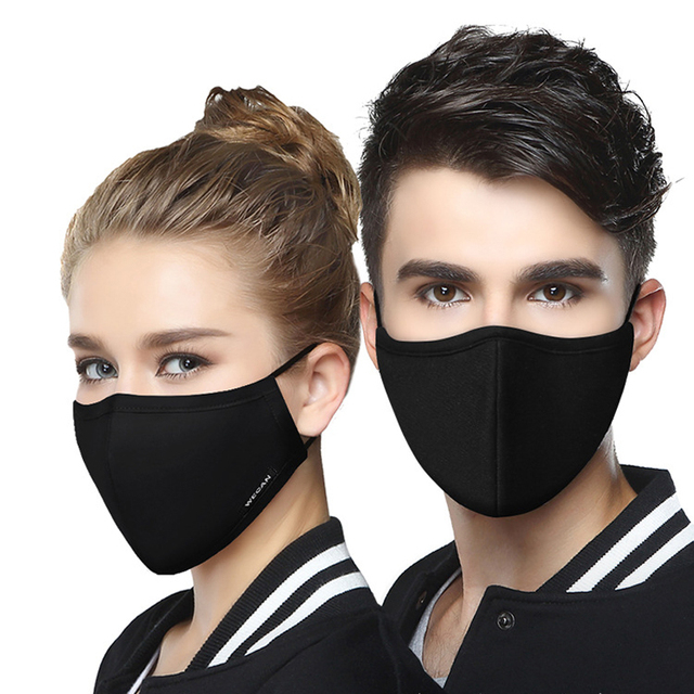 Korean Cotton PM2.5 Face Mouth Mask Anti Haze/Anti dust mouth mask Activated Carbon Filter Mouth-muffle Mask with 2pcs Filter