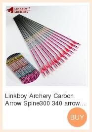 Linkboy tiro com arco Flechas de Carbono