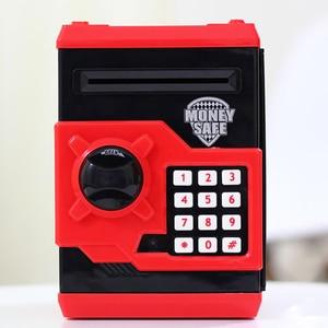 Image 4 - Eworld חם חדש פיגי בנק מיני כספומט כסף תיבת בטיחות אלקטרוני סיסמא לעיסת מטבע מזומנים הפקדת מכונה מתנה לילדים ילדים