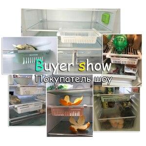 Image 4 - Küche lagerung rack organizer küche organizer rack küche zubehör veranstalter regal kühlschrank lagerung regal box