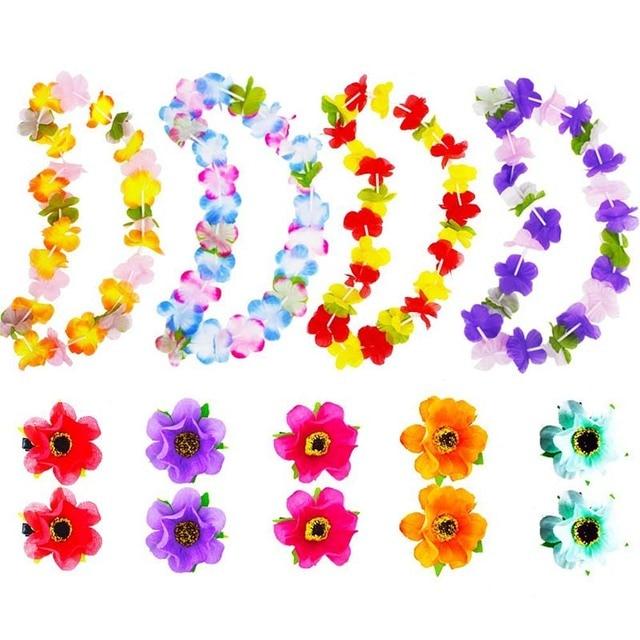 Wxboom 20pcs hawaiian leis hawaiian luau necklaces simulation silk wxboom 20pcs hawaiian leis hawaiian luau necklaces simulation silk flower necklace 4 styles mightylinksfo Image collections