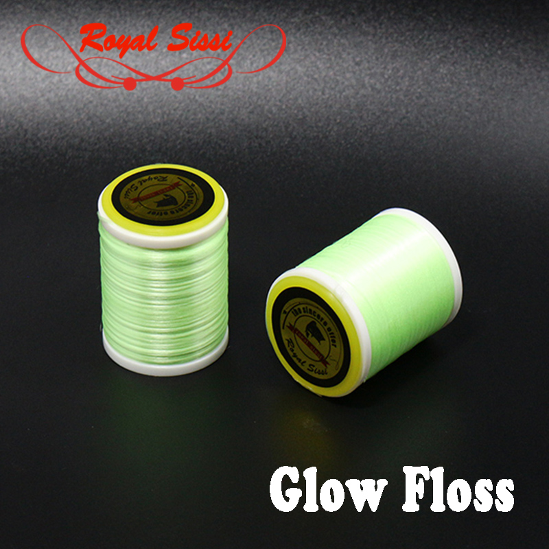 New hot 1 spool high tensile glow fly tying thread <font><b>300D</b></font> Glo yarn luminous green Floss glow fly tying materials for body wraping image