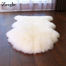 Zeegle Imitation Pelt Carpets For Living Room Solid Shaggy Children Bedroom Rugs And Carpets Coffee Table Area Rug Kids Play Mat(China)