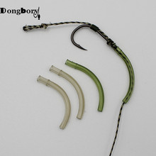 цены 40pcs Carp Fishing Accessories Withy Pool Hook Aligner Rubber Hook Sleeve Line Aligner Terminal Fishing Tackle Hair Rig Swivel