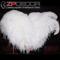 Zpdecor 100 шт./лот 70-75 см (28-30 дюймов) длинные премиум качества отбеленные длинные белые страусовые Перо для Свадебные украшения