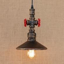 Loft Style Iron Water Pipe Lamp Retro Edison LED Pendant Light Fixtures Dining Room Hanging Lamp