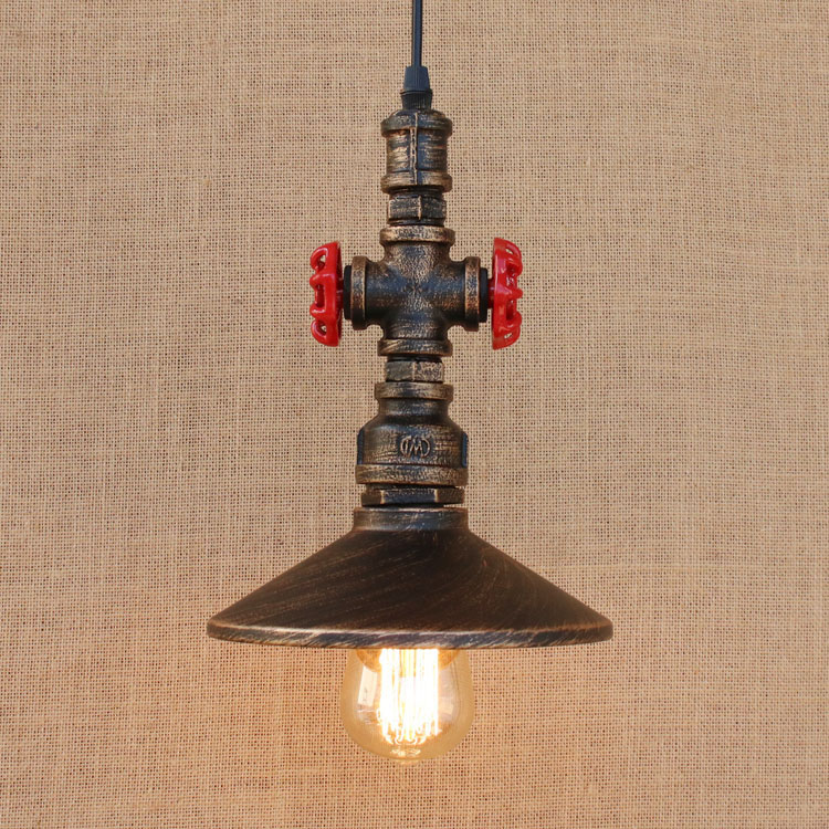 Loft Style Metal Water Pipe Lamp Retro Edison Pendant Light Fixtures Vintage Industrial Lighting Dining Room Hanging Lamp loft vintage edison glass light ceiling lamp cafe dining bar club aisle t300