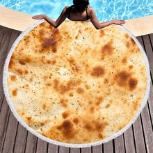 Tortilla Soft Fleece Throw Blanket Printing  bathing towel Round Beach Towel Home Textile Decoration