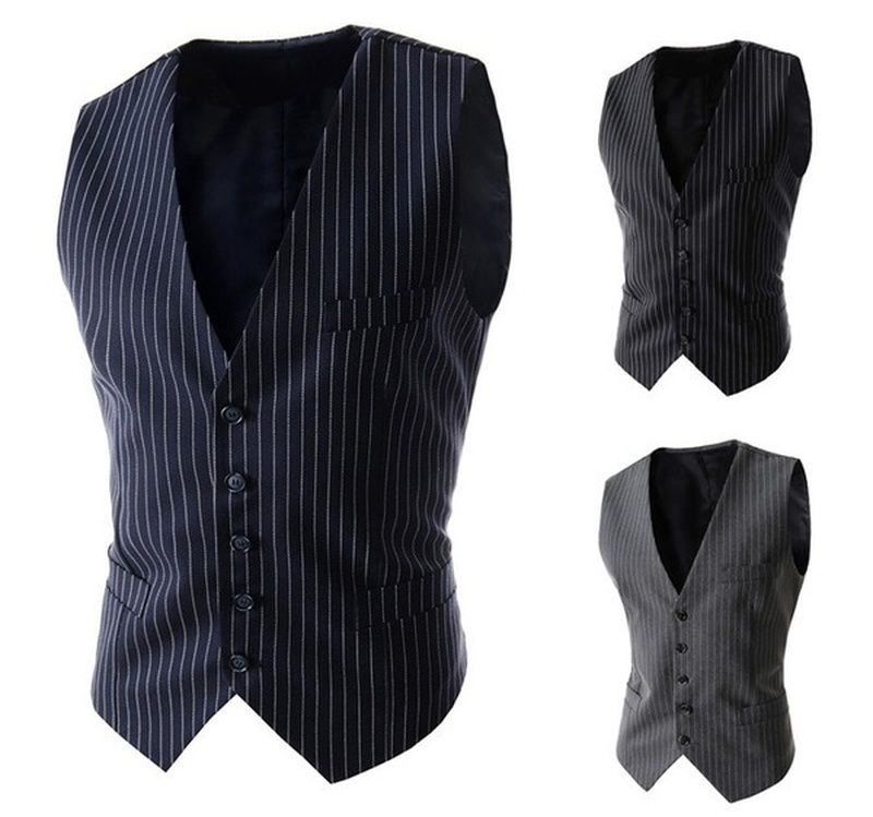 Zogaa 2019 New Arrival Dress Vests for Men Slim Fit Mens Suit Vest Male Waistcoat British Business