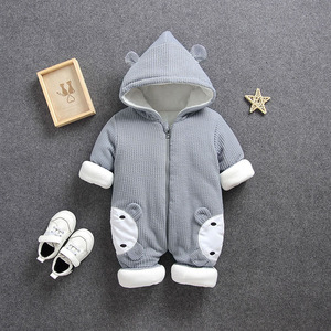 Image 3 - 2020 New Russia Baby costume rompers Clothes cold Winter Boy Girl Garment Thicken Warm Comfortable Pure Cotton coat jacket kids